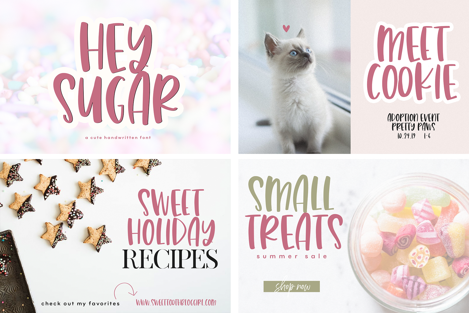 The Sweet Font Bundle - 14 Fun & Quirky Fonts example image 5