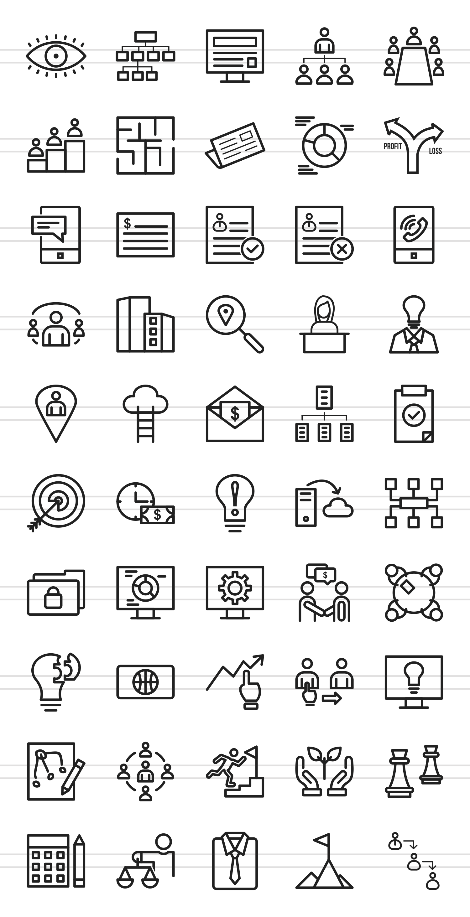 50 Business Administration Line Icons example image 2
