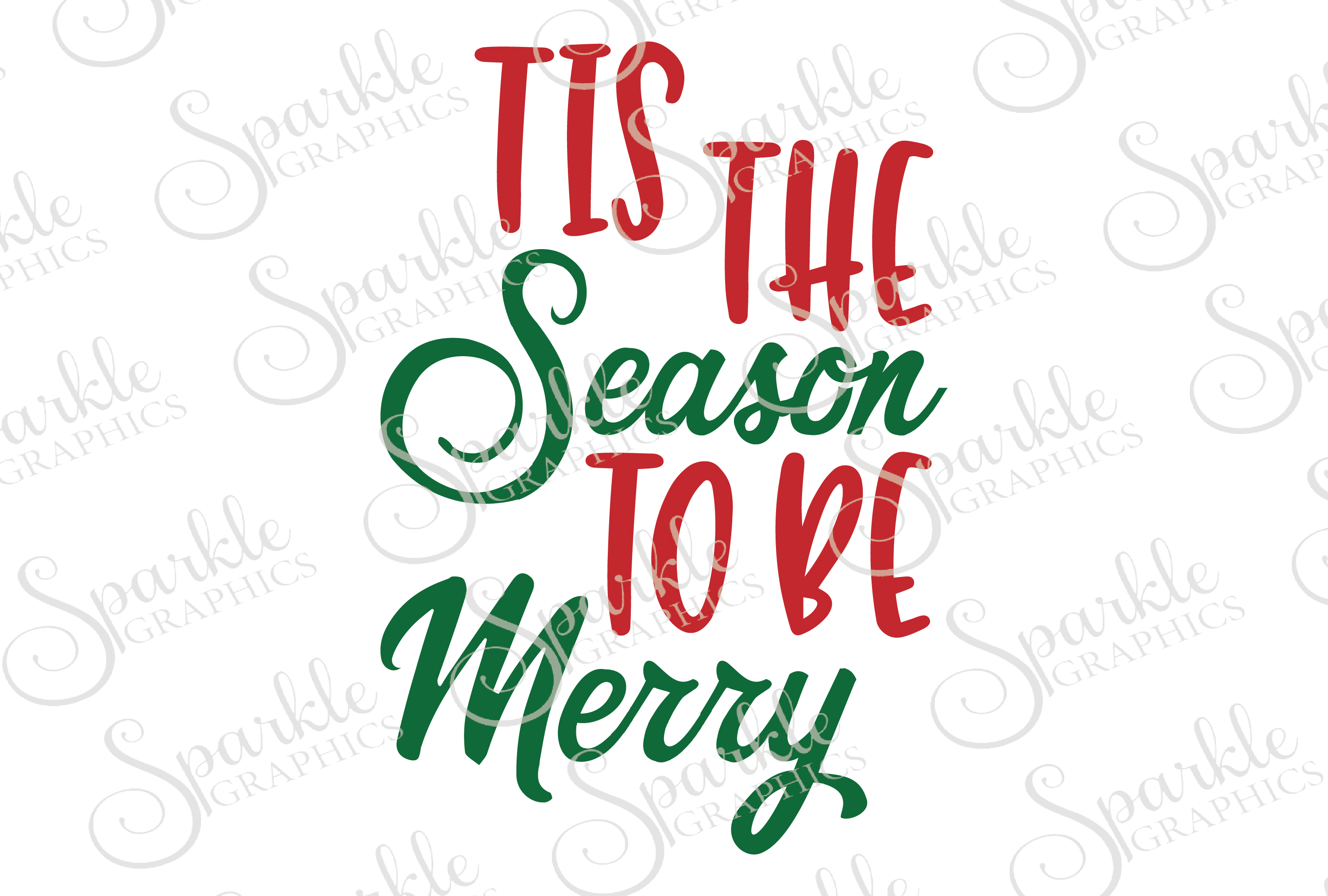 Tis The Season To Be Merry File Set | SVG, EPS, DXF, PNG example image 1