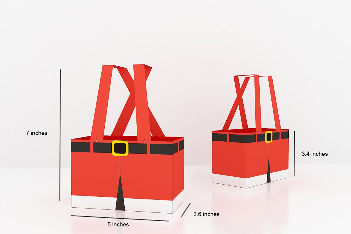 DIY Santa Pants Favor - 3d papercraft example image 2