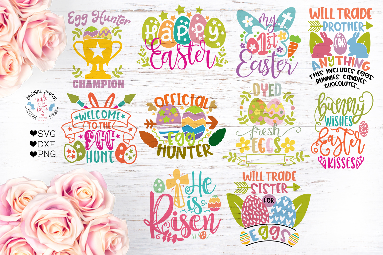Easter Cut Files Bundle Ten Designs example image 1
