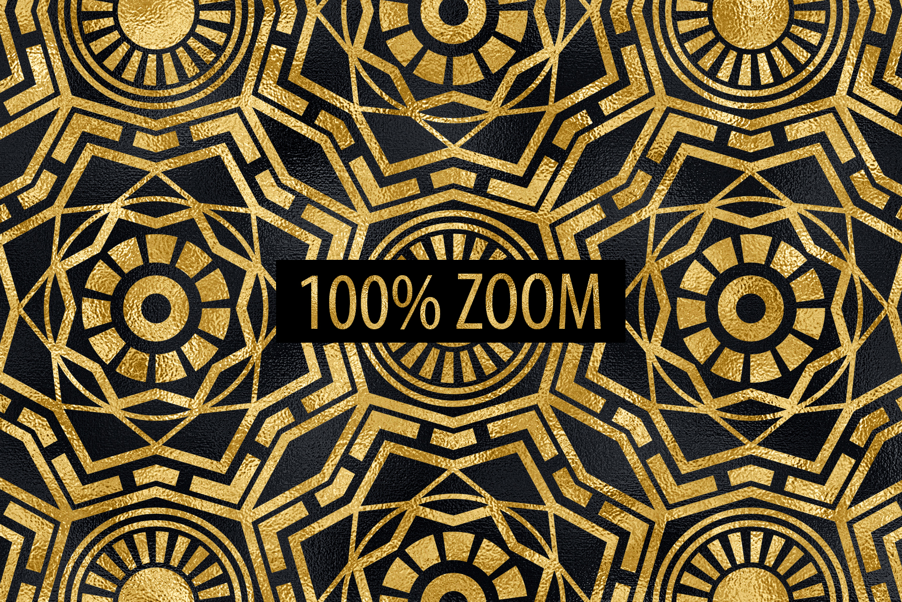 Seamless Art Deco Patterns - Black and Gold Digital Papers example image 4