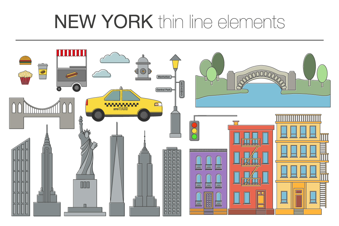 NEW YORK vector collection example image 2