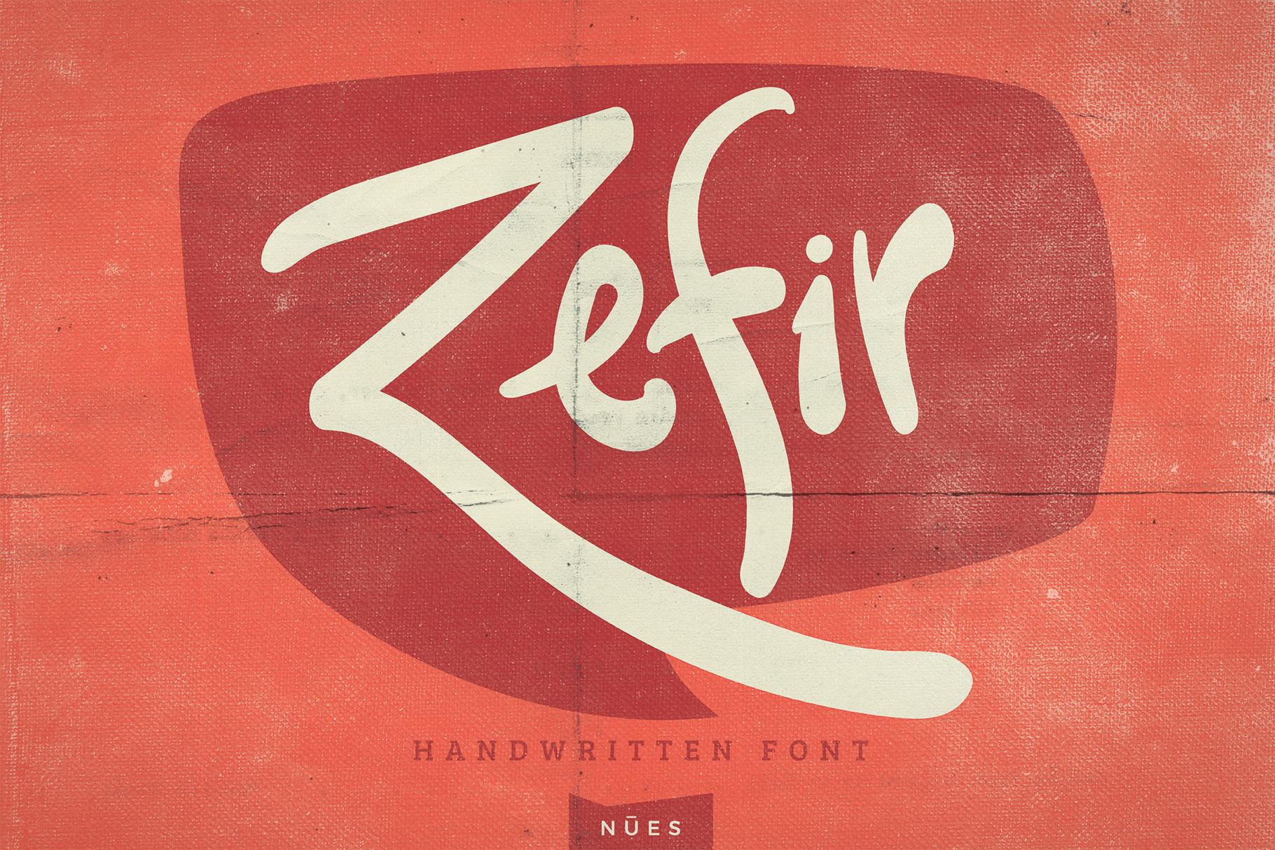Zefir Script Font example image 1