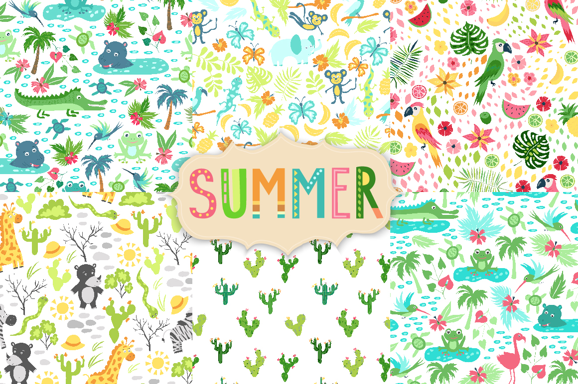 Summer Tropical Cute Vector Pack example image 5