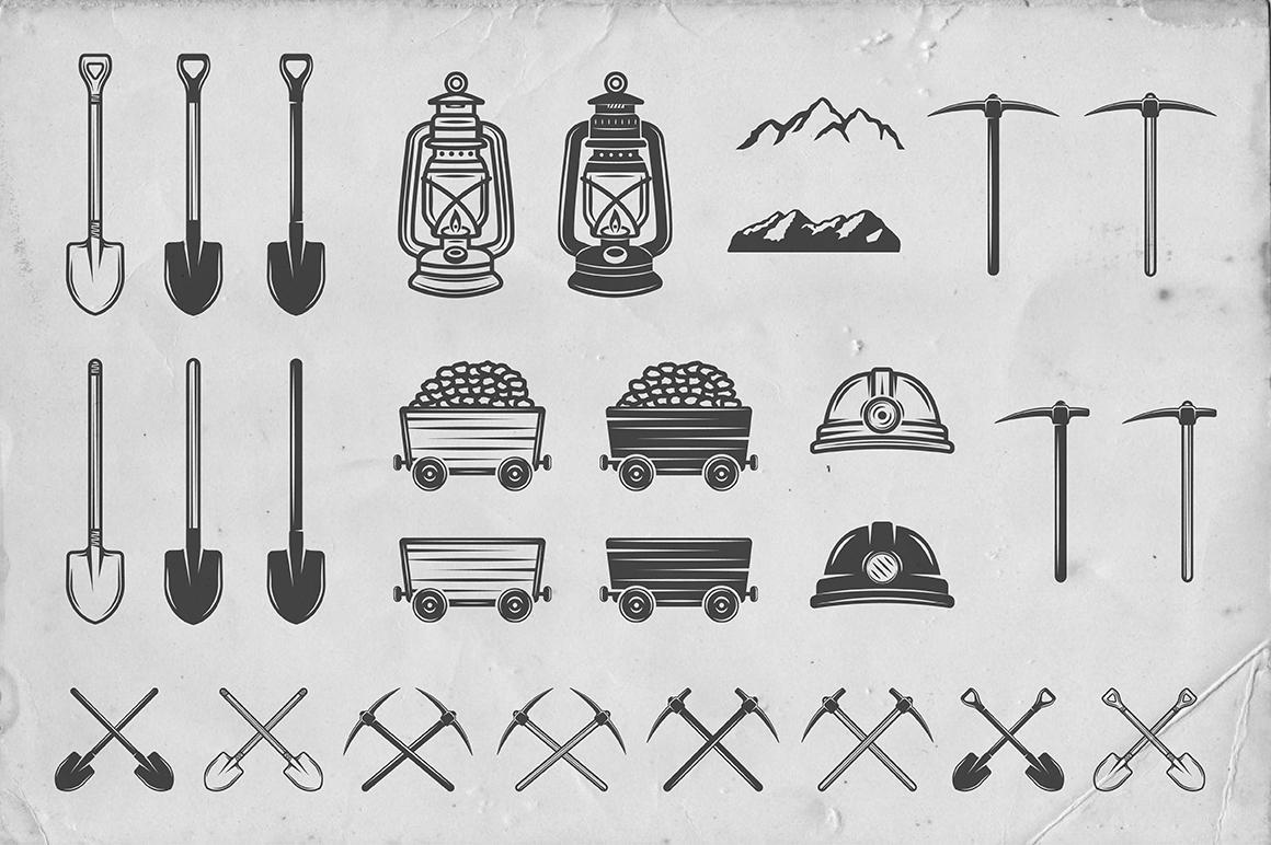 36 Vintage Mining Emblems part 2 example image 5