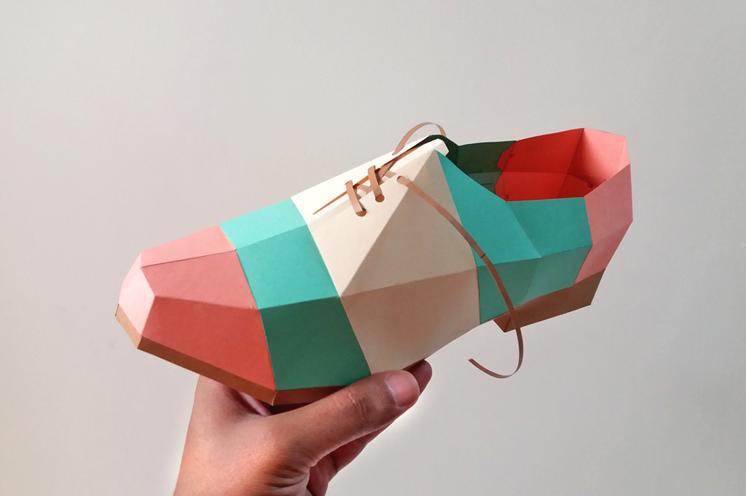 DIY Colorful Shoe - 3d papercrafts example image 4