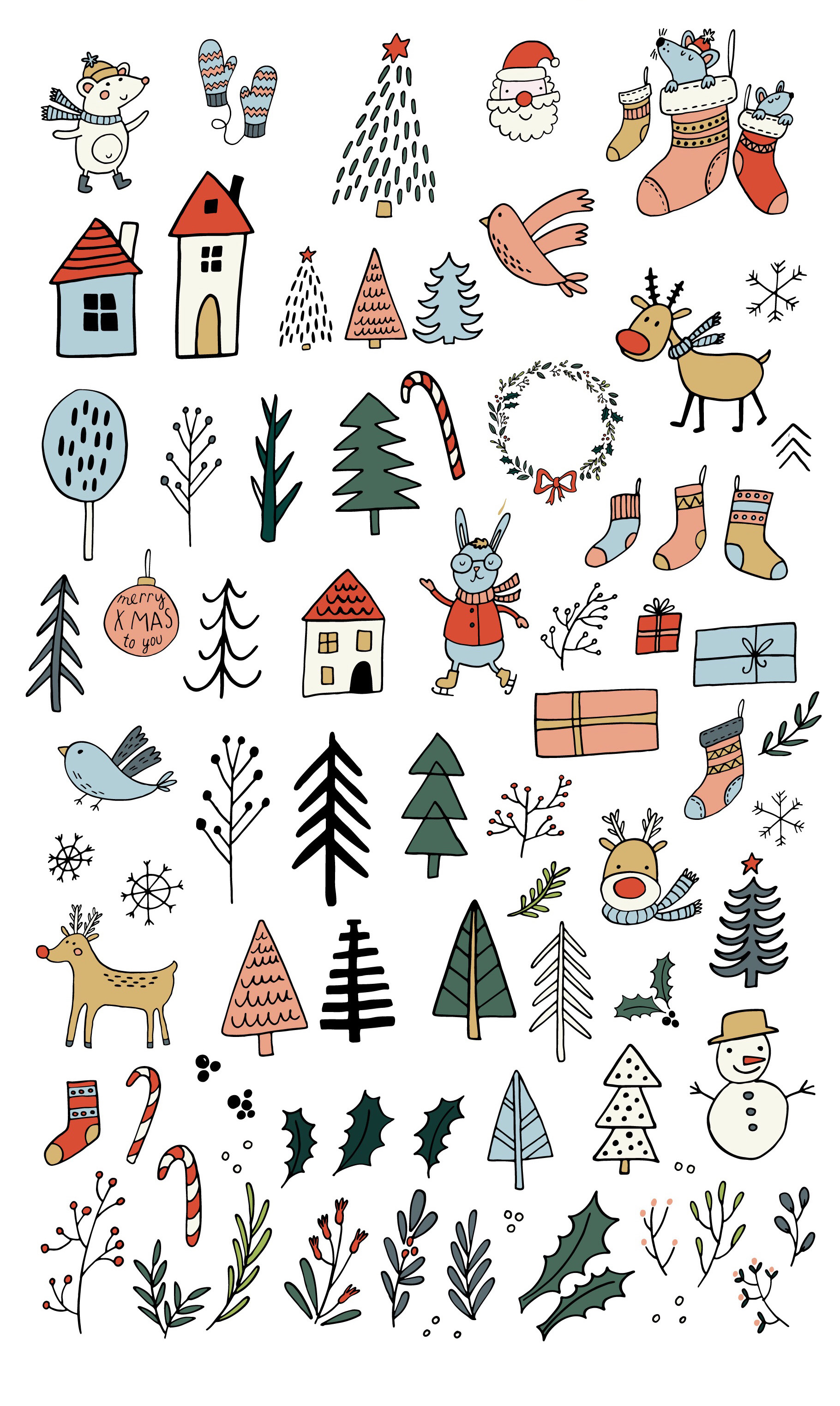 Cozy Christmas Clipart example image 3