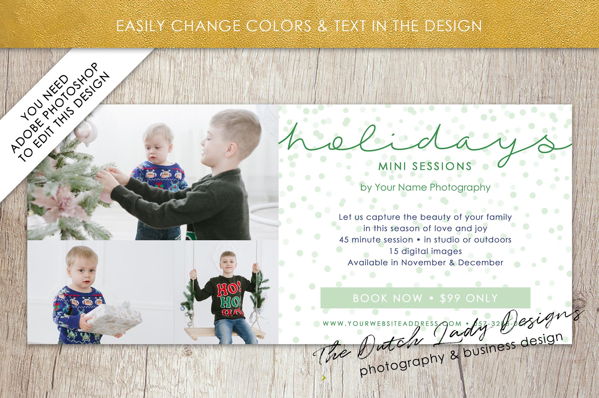 PSD Photo Mini Session Card Template - Design #24 example image 4
