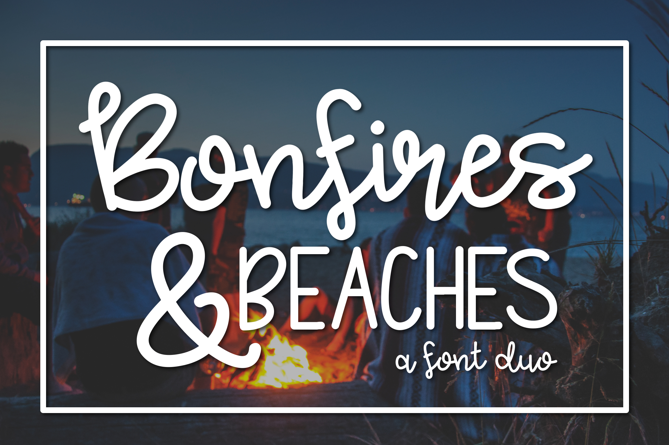 Bonfires & Beaches a Font Duo example image 1