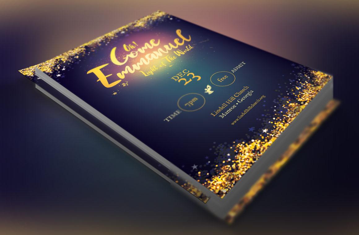 Emmanuel Christmas Cantata Flyer Template example image 2