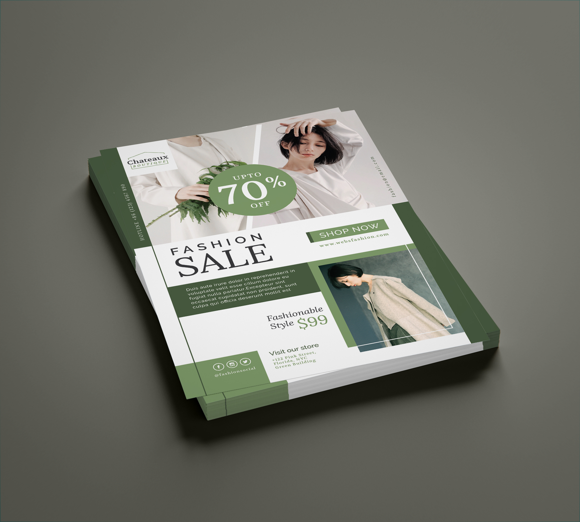 Fashion flyer template example image 4