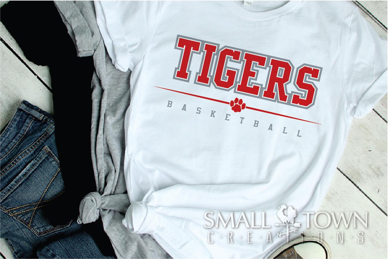 Tigers basketball, tiger mascot, team, PRINT, CUT, DESIGN example image 23