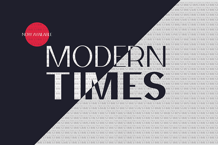 Modern Times Font Family example image 2