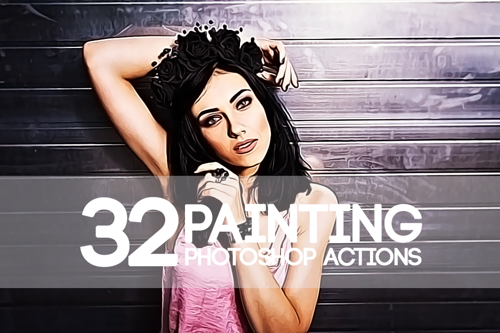 32 Watercolor Painting Photoshop Actions Collection (Action for photoshop CS5,CS6,CC) example image 1