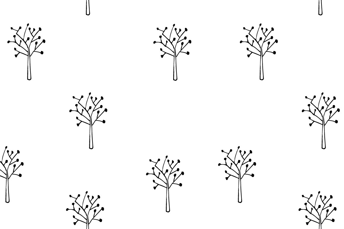 Trees pattern collection example image 7