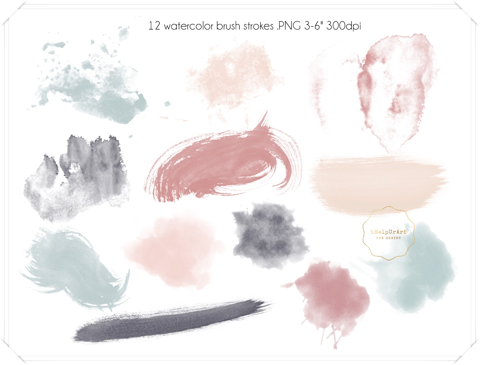 Copper and Watercolor Design Kit example image 4