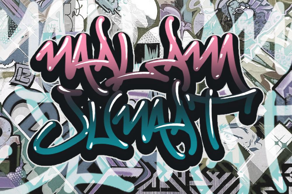 MALAM JUMAT GRAFFITI FONT VOL.4 example image 7