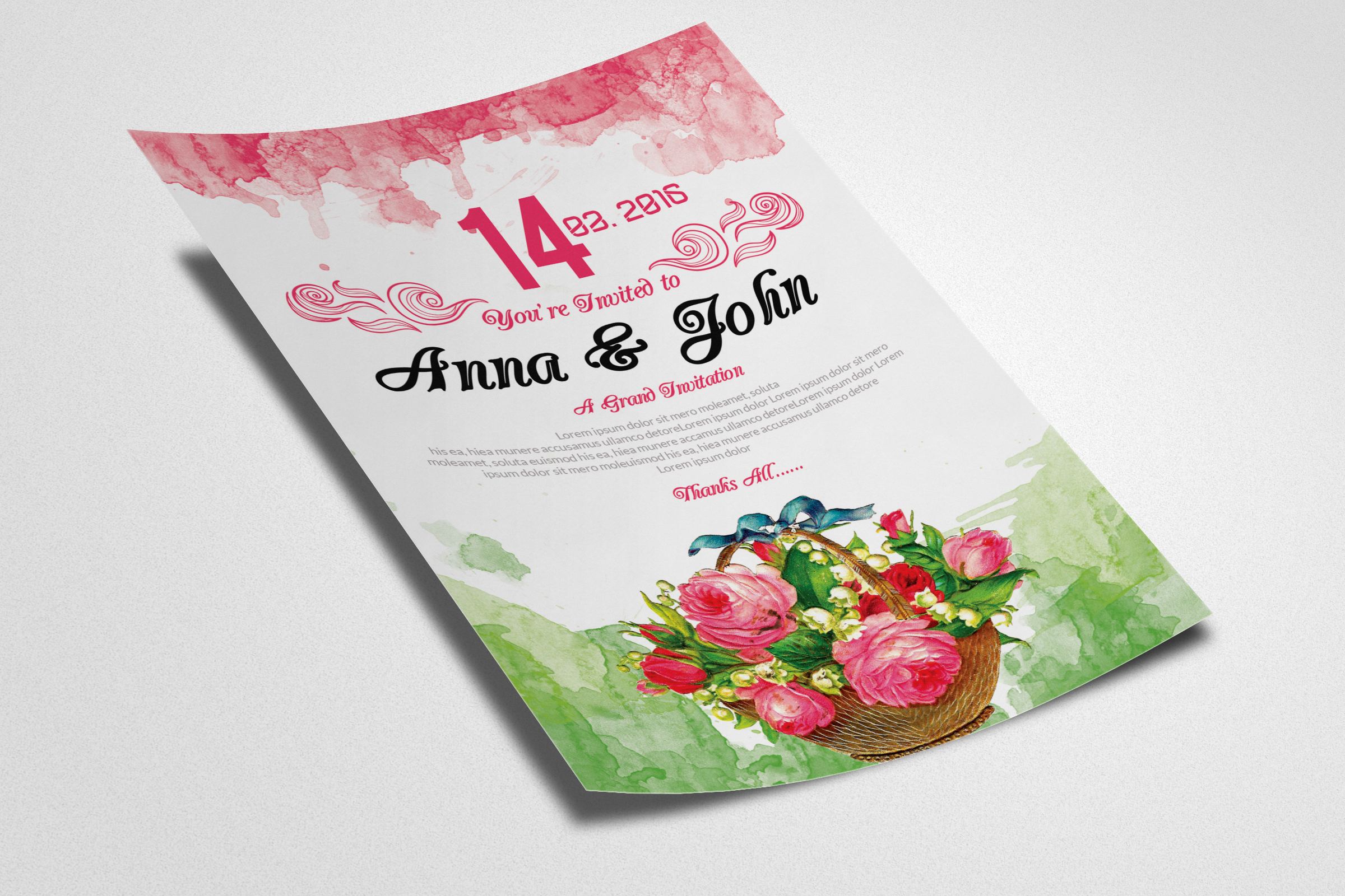 Floral Wedding Flyer example image 2