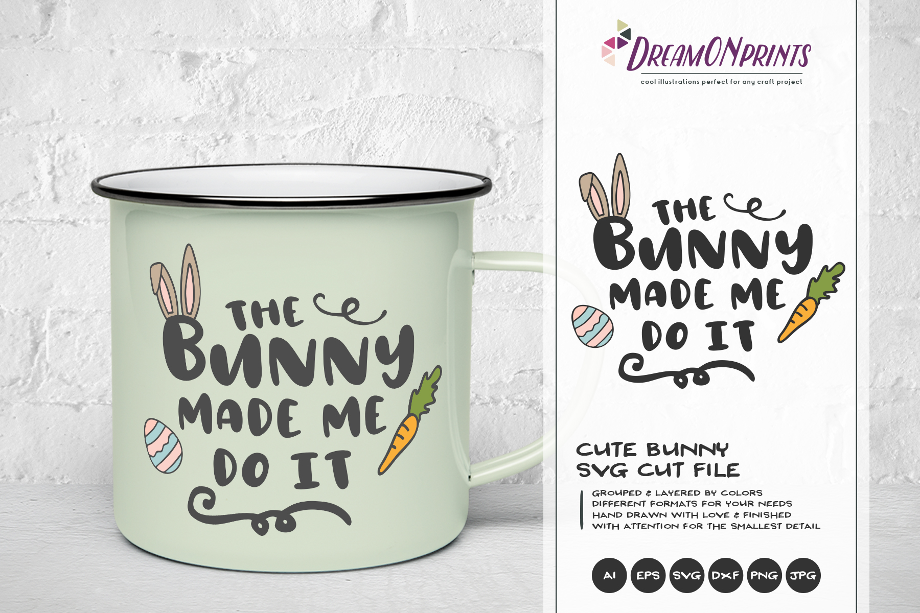 Easter SVG Bundle - The Funny Bunny Vector BUNDLE example image 7
