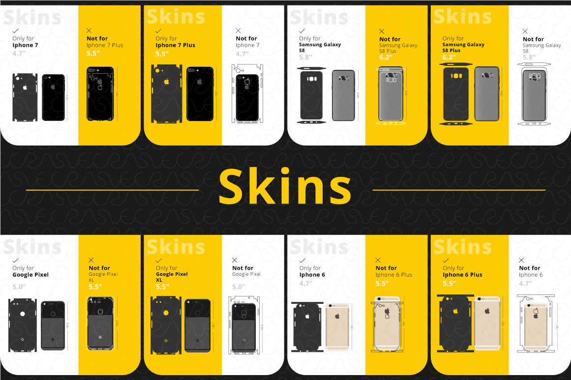 Phone Accessories Customer Guide Info-Graphics Illustrations example image 6