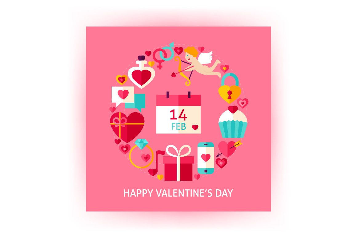 Valentines Day Vector Posters example image 4