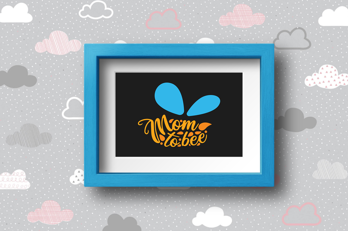 Pregnancy Announcement SVG Cut Files - Mom to Bee example image 2