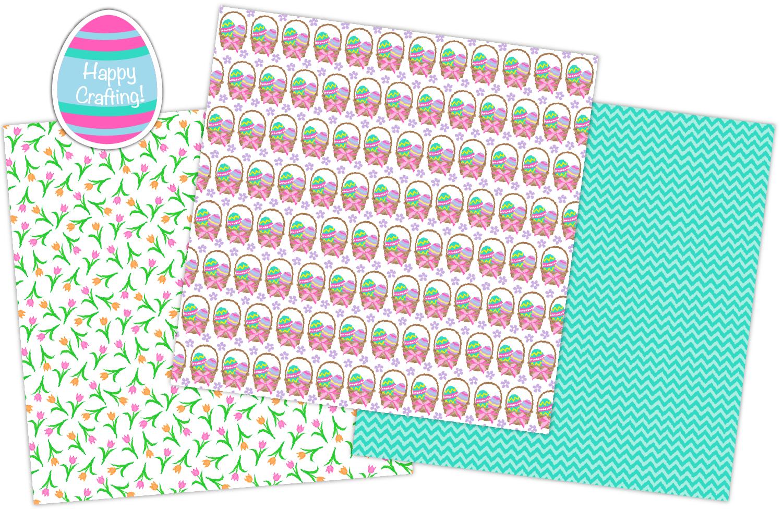 easter digital paper, Easter patterns, easter - P36 example image 5