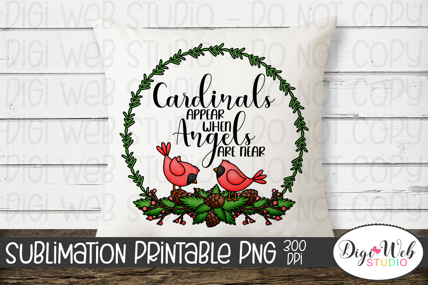 Crafters Sublimation Printable - Cardinals Appear When Angel example image 1