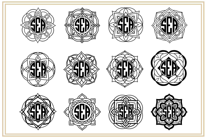 Mandala Monogram. EPS, PNG, SVG example image 2