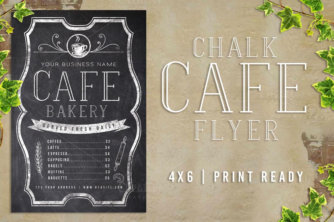 Chalk Cafe Flyer Menu example image 1