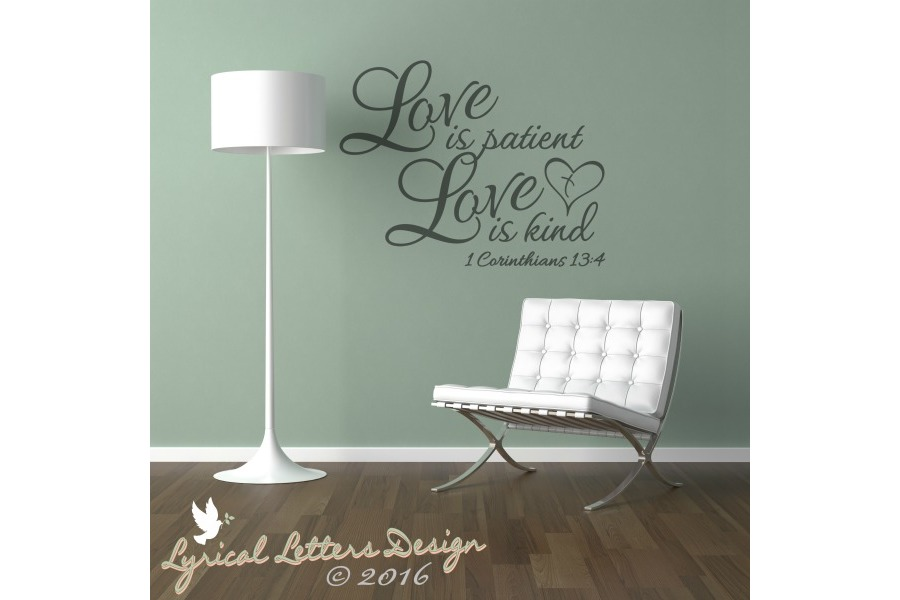 Love Is Patient Love is Kind 1 Corinthians 13 SVG DXF LL022E example image 2