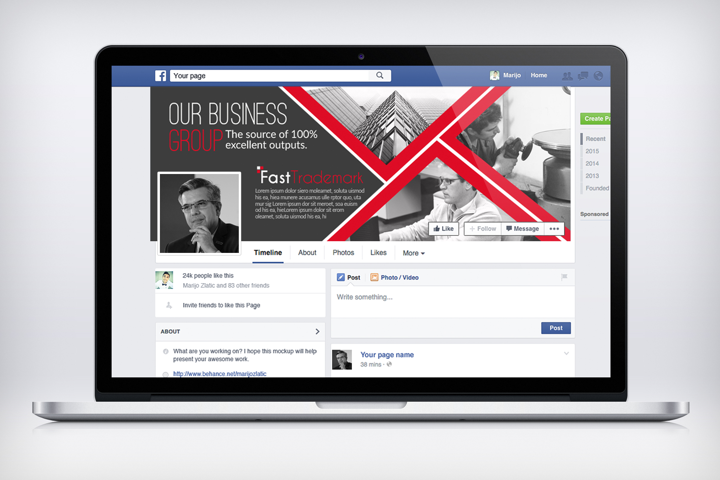 Business Facebook Timelines 06 example image 2