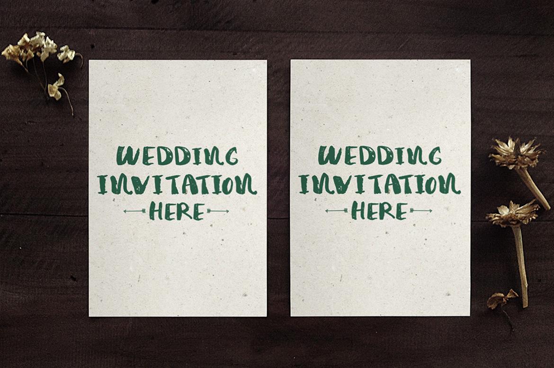 Wedding Invitation Mockup example image 5