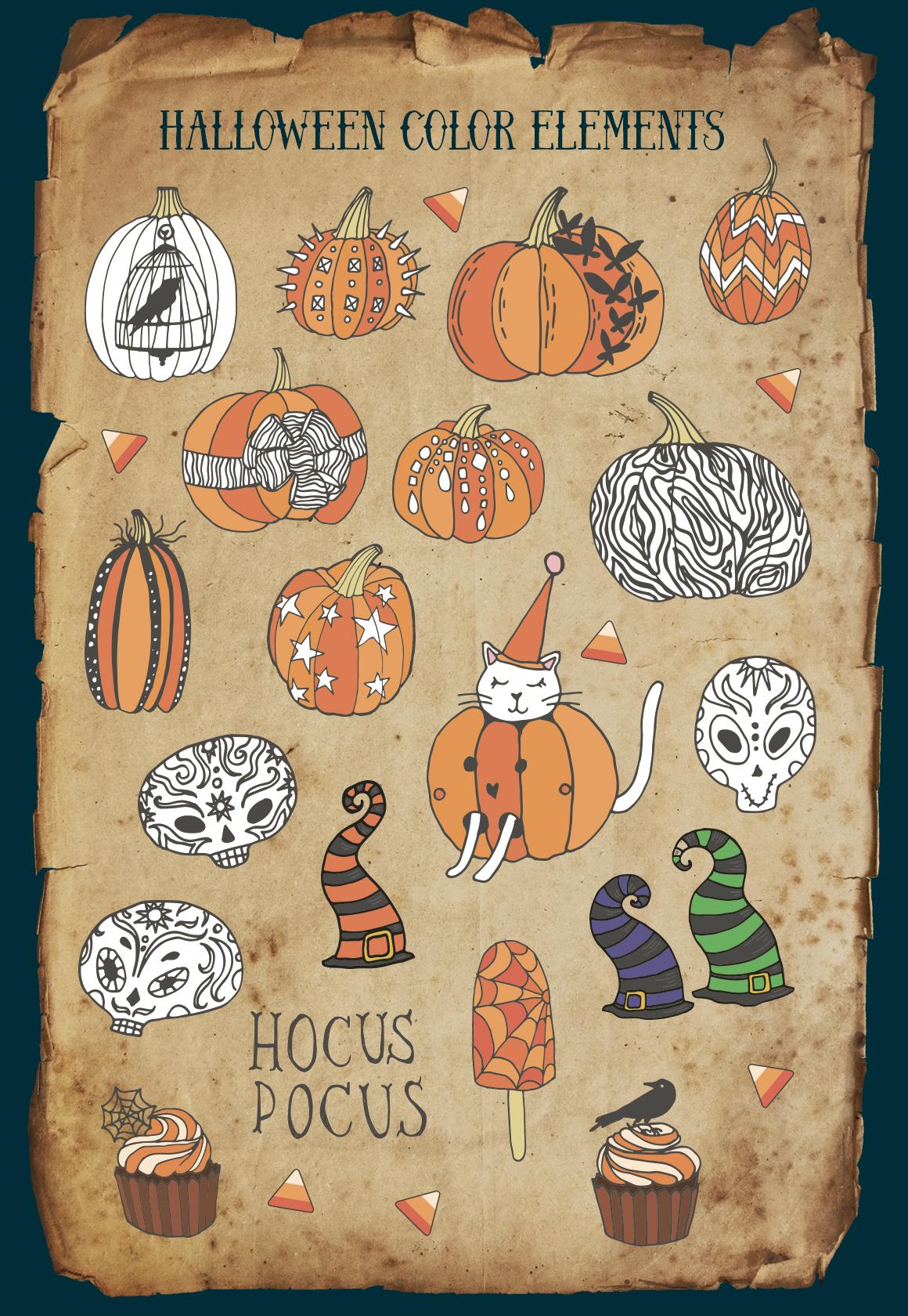 Halloween - vector set example image 2