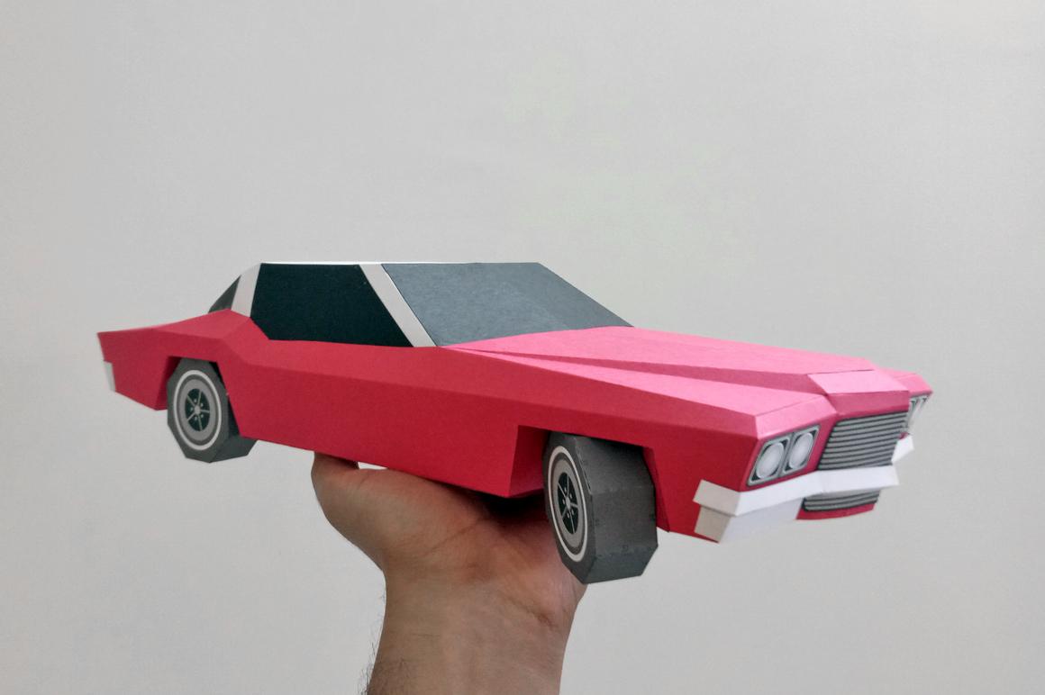 DIY Classic Car - 3d papercraft example image 3