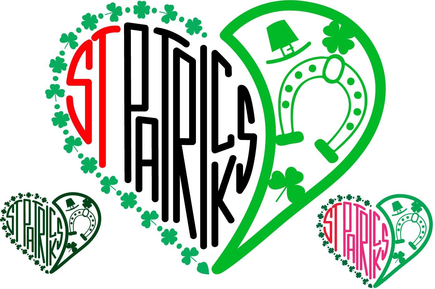 St. Patricks Day SVG love heart Saint -69sv example image 1
