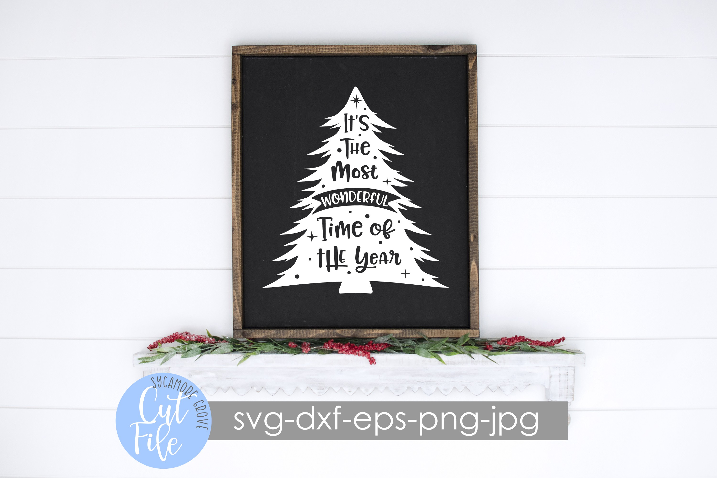 It's The Most Wonderful Time Of The Year | Christmas SVG example image 2