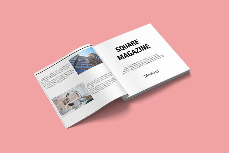 Square Magazine Mockup example image 7