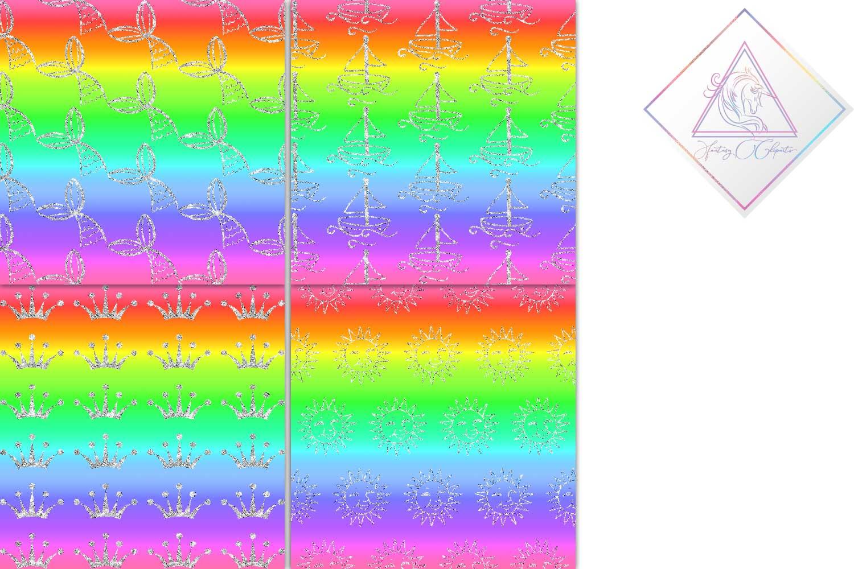 Rainbow & Silver Digital Paper example image 3