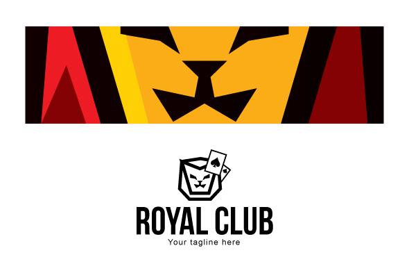 Royal Club - Abstract Lion Face Stock Logo Design example image 3
