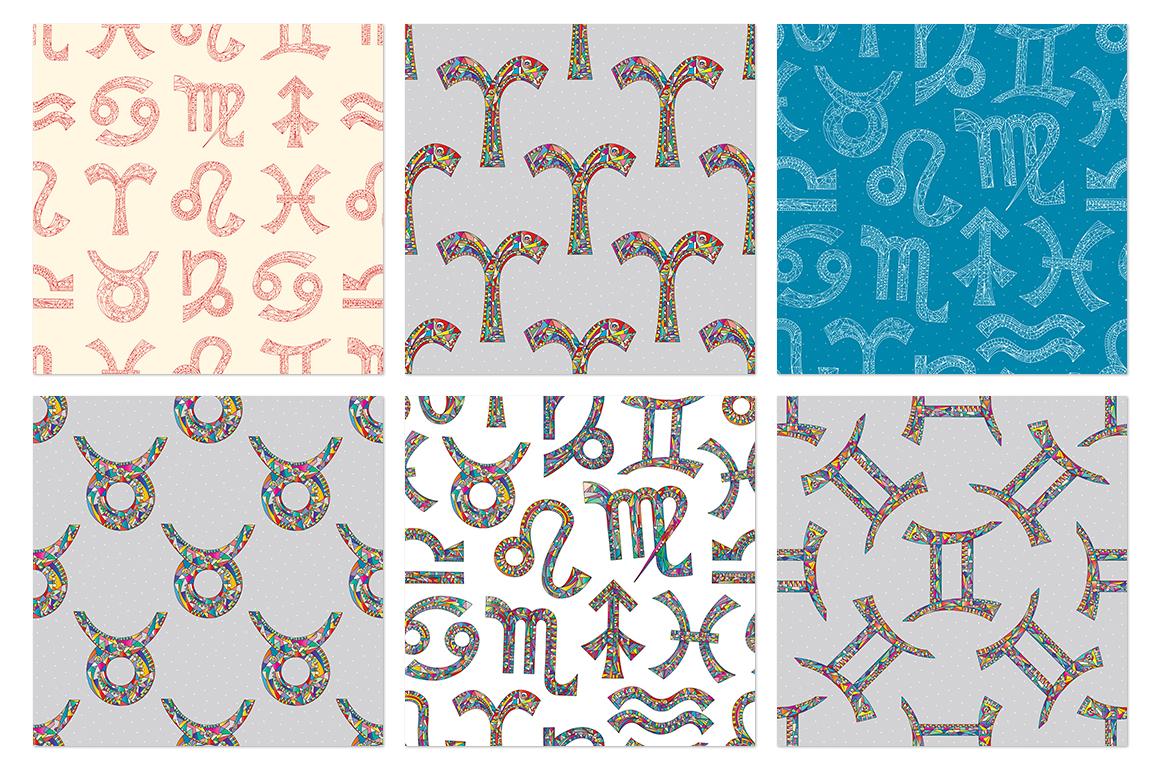 Zodiac signs vector collection example image 4