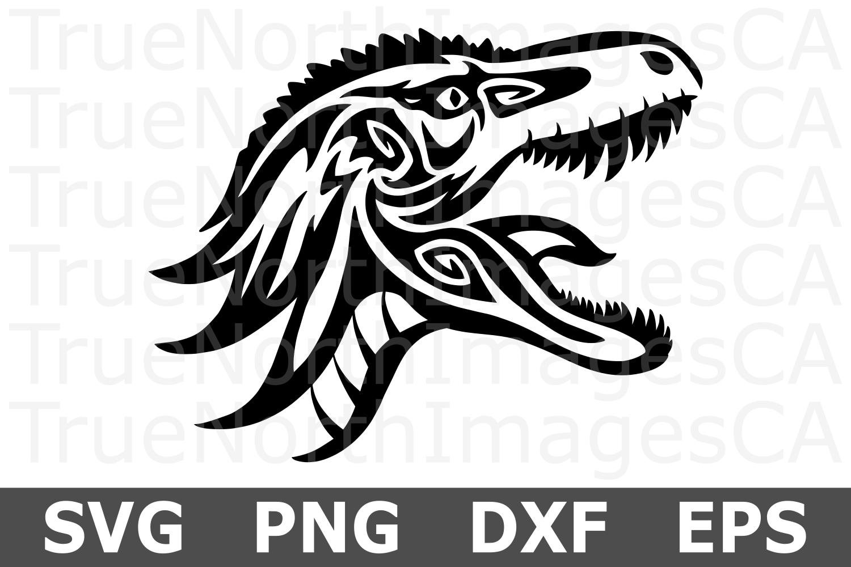 Tribal Dinosaur - An Animal SVG Cut File example image 1