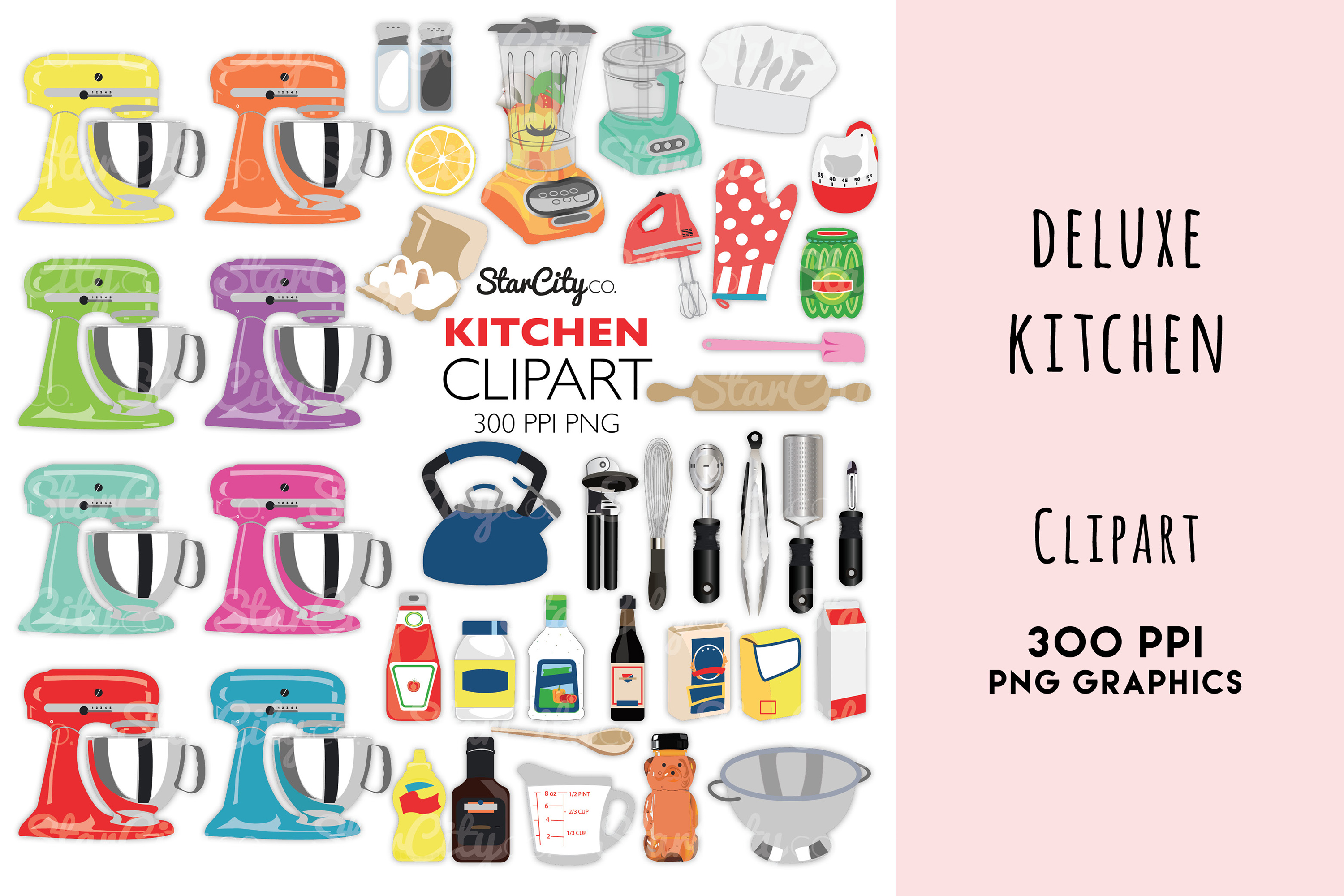 Deluxe Kitchen Clipart Graphics example image 1