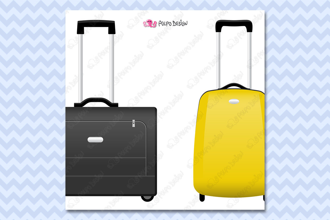 Rolling Suitcase clipart example image 2