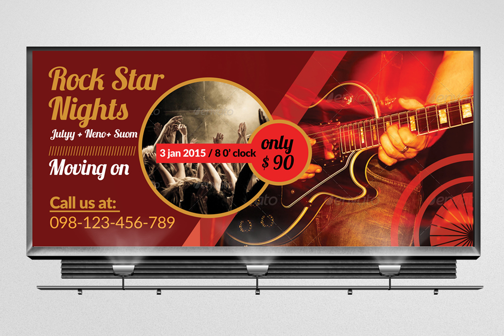 Music Concert Billboard Banners example image 1