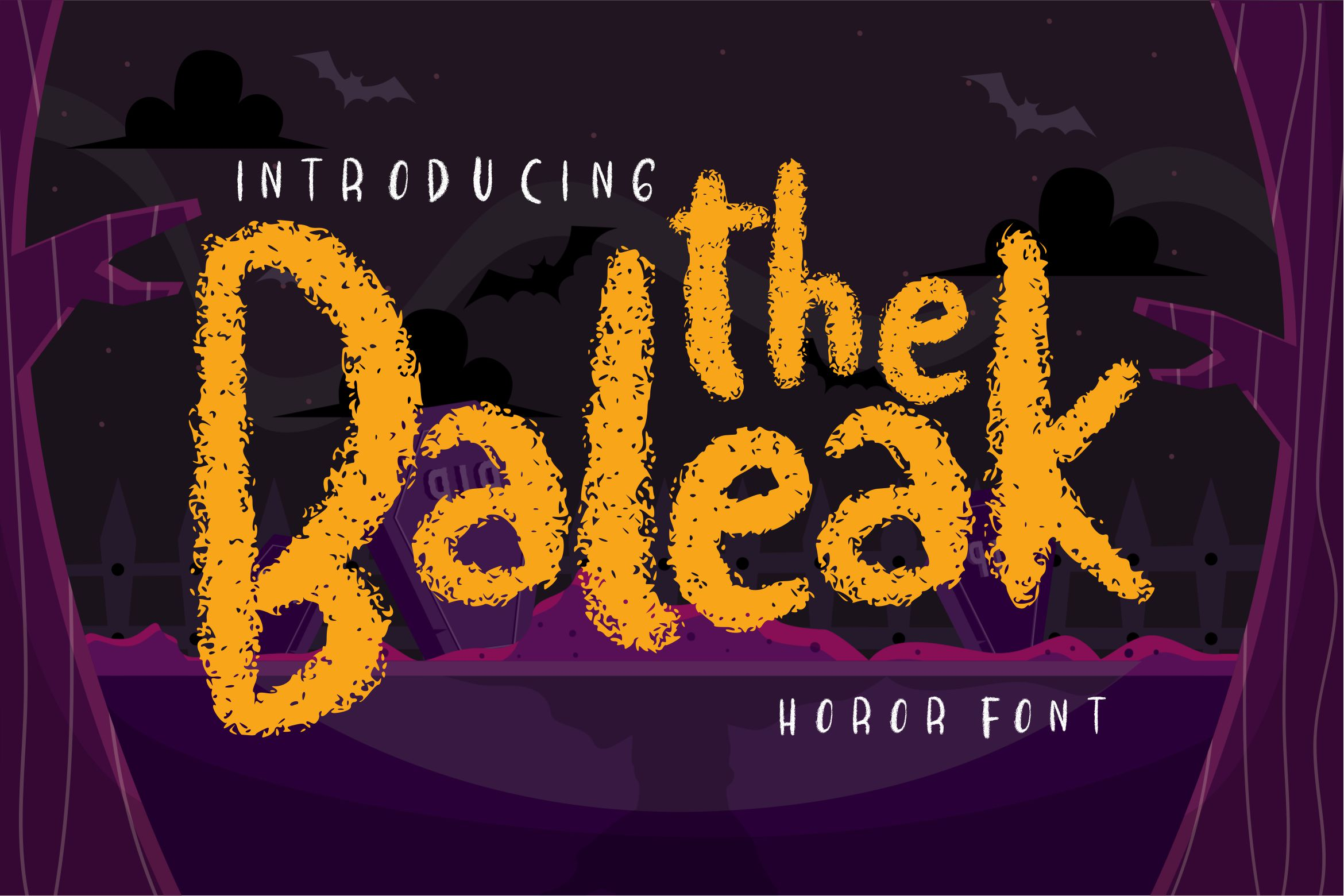 The baleak | Decorative Horror Font example image 1