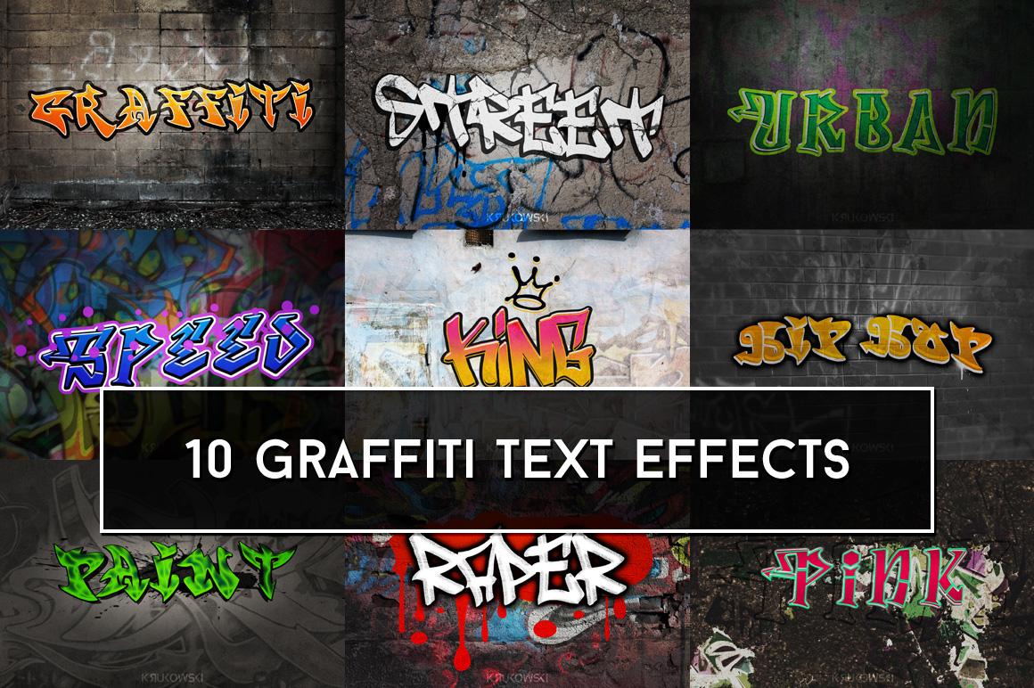 Graffiti Text Effects Mockup example image 1