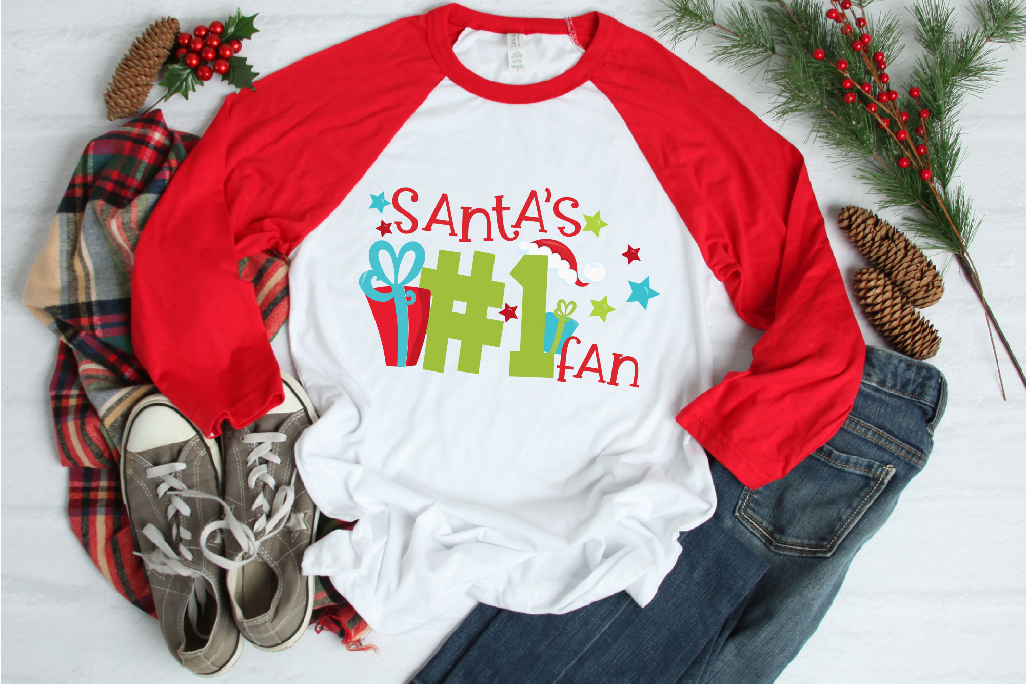 Christmas SVG, Santa's Number One Fan Sublimation example image 1
