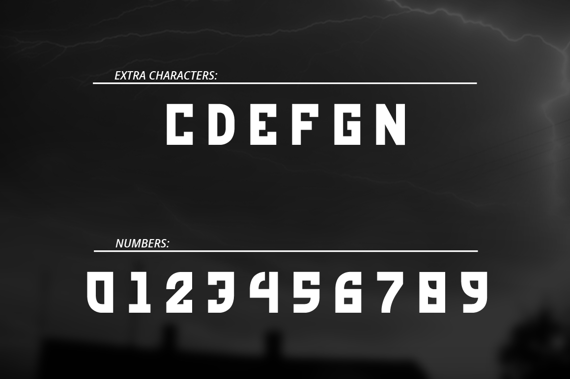 Red Storm | Special Designer Font example image 3